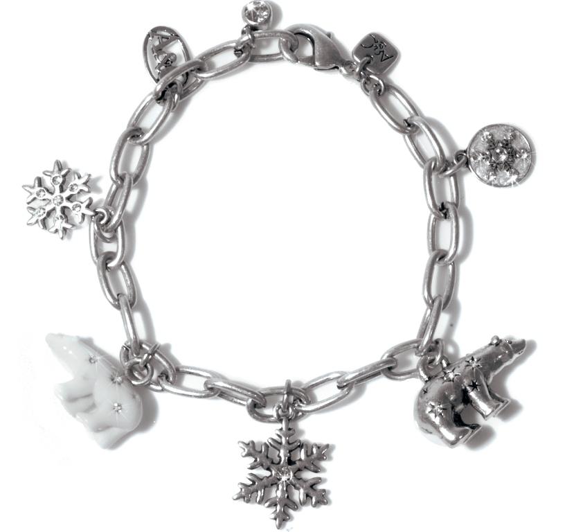 Браслет покрытый серебром со стразами Swarovski(3032-0442)