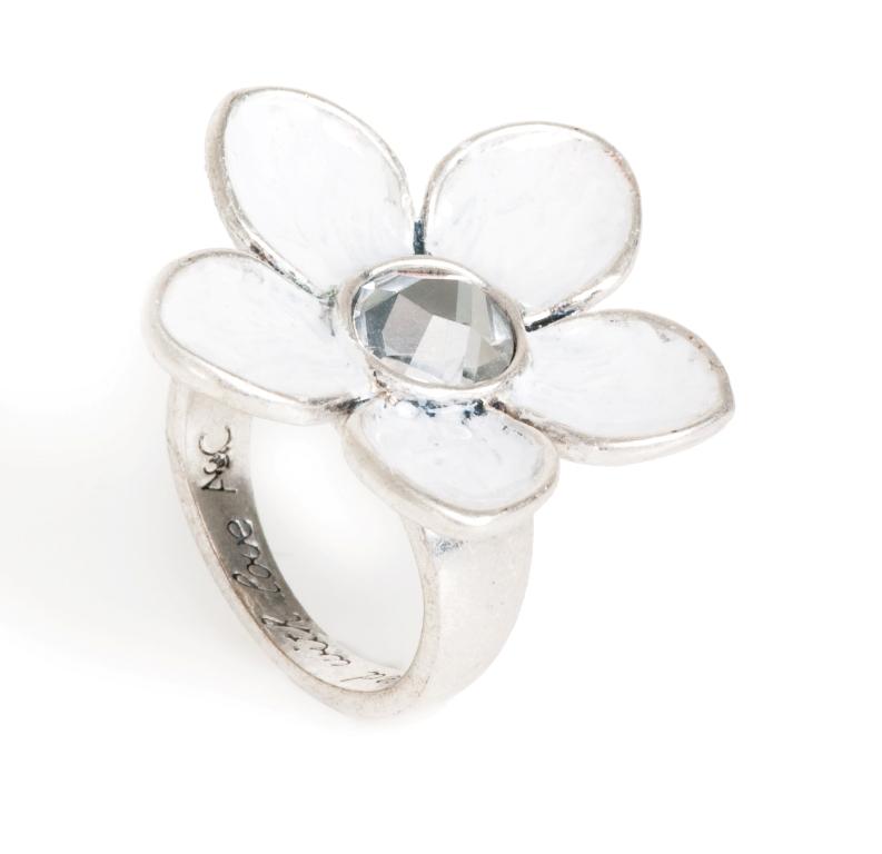 Кольцо с эмалью(4032-0351)Летние мечты<br>Кольцо имеет  регулируемый, универсальный  размер,  оно изготовлено  из специального сплава покрытого  состаренным серебром 925 пробы.  Диаметр цветка 3 см.<br>