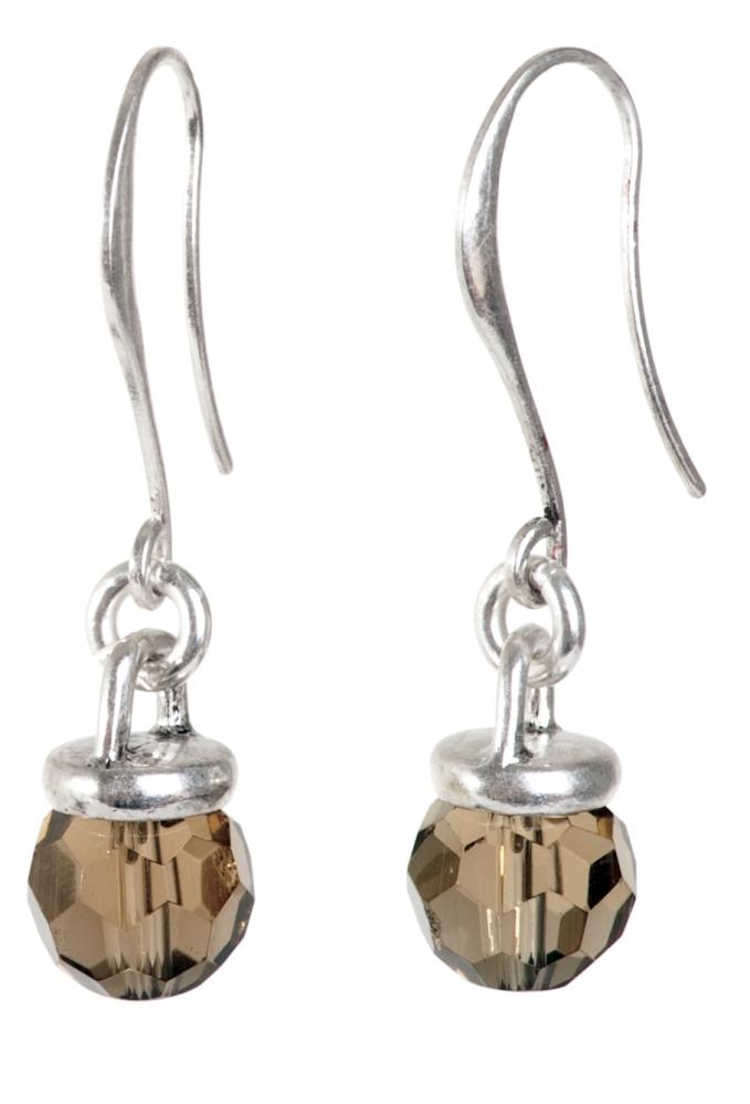 Серьги покрытые серебром(1032-1737)Классика 70-х в серебре<br>Серьги выполнены из ювелирного сплава покрытого серебром 925 пробы. Длина  -4 см. Диаметр подвески- 1 см. Дужка изготовлена из гипоаллергенной хирургической стали.<br>