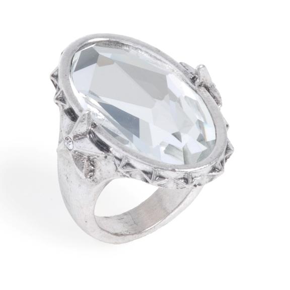 Кольцо(4032-0402)Звездная ночь<br>Безразмерное кольцо со вставкой из высококачественного стекла и стразами Сваровски. Размер кольца 17, 18, 19<br>