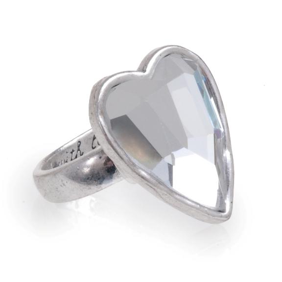 Кольцо в форме сердечка(4032-0285)Подарки к Дню Святого Валентина<br>Кольцо в форме сердечка. Безразмерное<br>