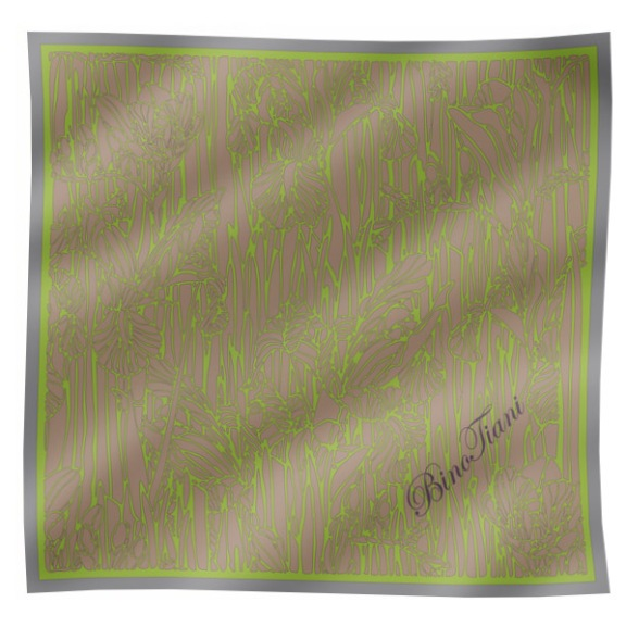 Платок шелковый 120х120см ирис(Ирис-4)Bino Tiani, Италия<br>100% шелк, ручная обработка края, подарочная упаковка<br>