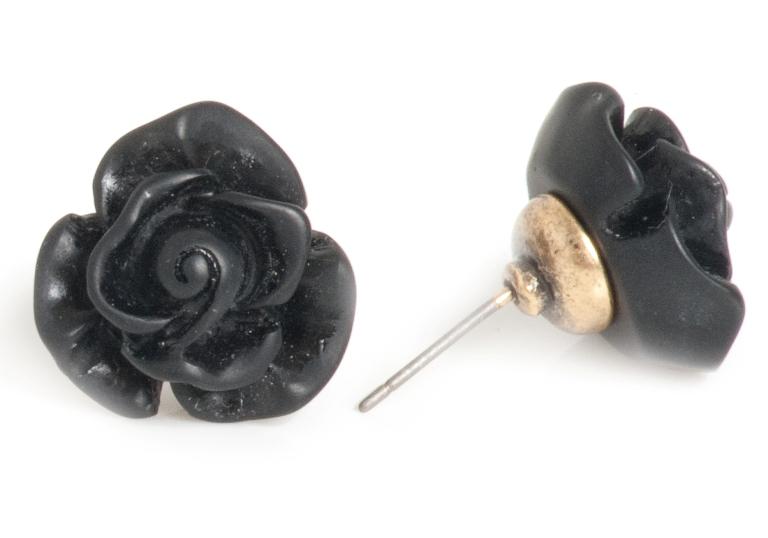 Серьги Черная Роза(1032-2087)