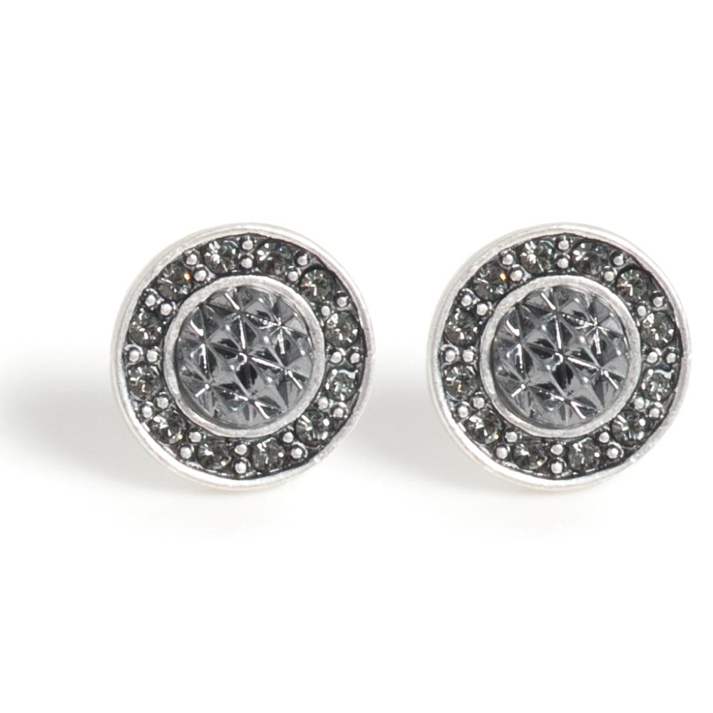 Серьги(1032-2250)Классические монеты<br>Arts&amp;Crafts, Норвегия<br><br>Монеты — символы, неподвластные времени. Изделия отлично дополнят модный этой осенью образ в стиле 1990-х, с его высокими воротами свитеров и костюмами «с мужского плеча». Текстурная, ребристая поверхность и комбинация металлов придают украшениям выразительность. Коллекция очень элегантна, но<br>удобна для ношения! В качестве материалов использованы кристаллы Swarovski, серебряное и золотое покрытия и черные кожаные шнуры.<br>