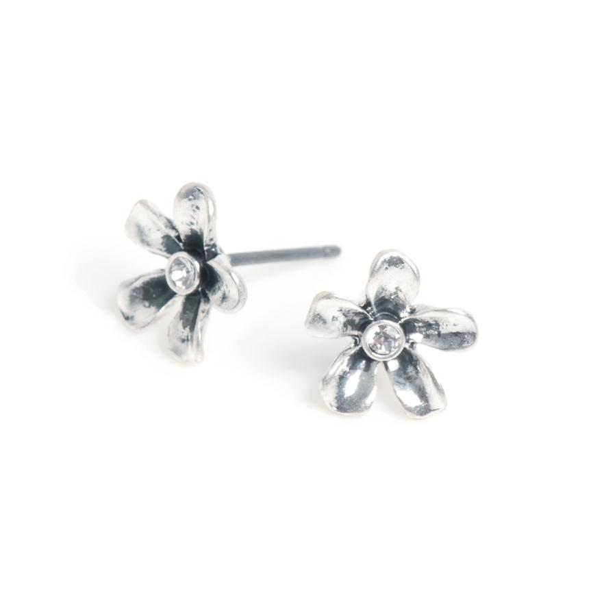 Серьги(1032-2364)Флора в серебре<br>Arts&amp;Crafts, Норвегия<br><br>Авторский дизайн, ручная работа, ограниченный выпуск.<br><br>Серьги выполнены из гипоаллергенного сплава, покрыты толстым слоем серебра. В качестве декора использованы стразы Swarovski.<br>