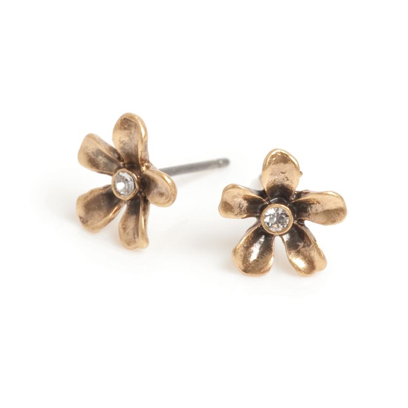 Серьги(1032-2367)Флора в золоте<br>Arts&amp;Crafts, Норвегия<br><br>Авторский дизайн, ручная работа, ограниченный выпуск.<br><br>Серьги выполнены из гипоаллергенного сплава, покрыты золотом. В качестве декора использованы стразы Swarovski.<br>