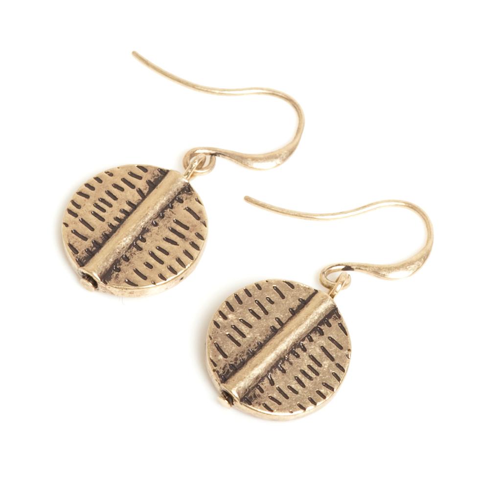 Серьги с золотым покрытием(1018-0417)Tribal<br>Arts&amp;Crafts, Норвегия<br>Авторский дизайн, ручная работа, ограниченный выпуск.<br><br>Серьги выполнены из гипоаллергенного сплава, покрыты толстым слоем золота.<br>