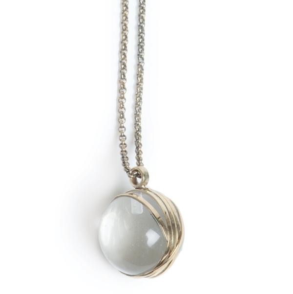Колье из серебра 925 пробы(2027-0854)Ball<br>Колье из серебра 925 пробы<br>