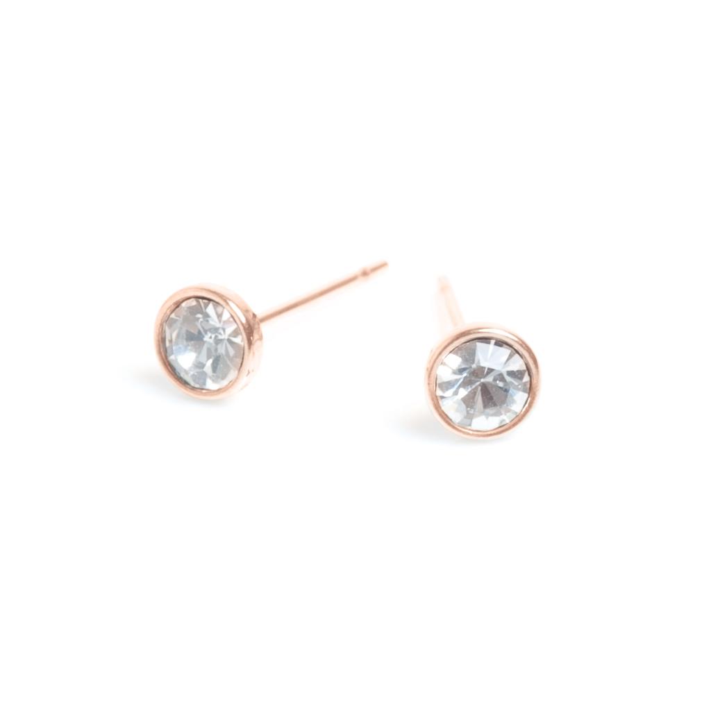 Серьги из стали покрытые золотом с цирконом(1046-0071)Бижутерия из стали от Arts&amp;Crafts<br>Arts&amp;Crafts, Норвегия<br><br>Авторский дизайн, ручная работа, ограниченный выпуск.<br>