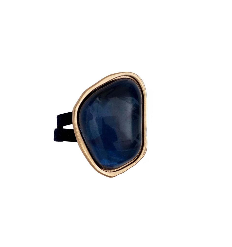 Кольцо(1c408)Бижутерия с искусственным обсидианом<br>Дания, Dansk Smykkekunst<br><br>Размер декоративного элемента 2,5 на 1,5см.<br>Размер кольца18<br>