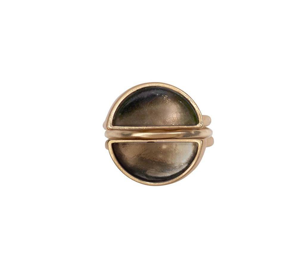 Набор из трех колец(1C416)Бижутерия с искусственным обсидианом<br>Дания, Dansk Smykkekunst<br><br>Диаметр кольца 2см.<br>Размер кольца 18<br>