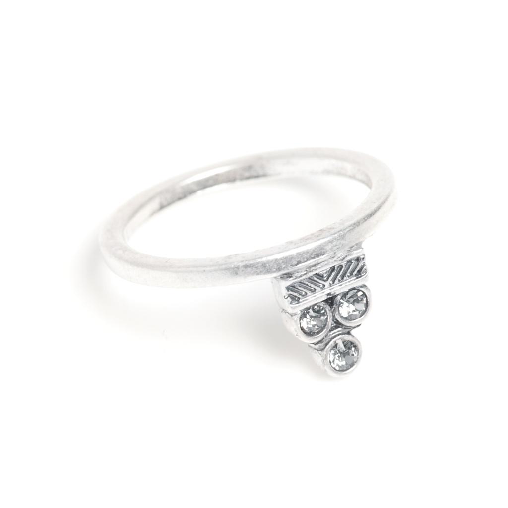 Кольцо со стразами Swarovski(4032-0545)Sienna<br>Размер кольца 17<br>