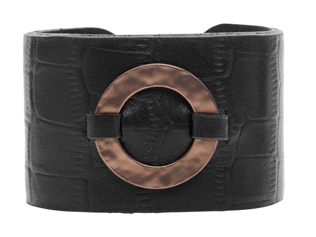 Браслет кожаный, широкий(7C944)Paloma<br>Ширина браслета 4см.<br><br>Наличие: под заказ<br>