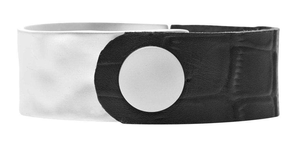 Браслет кожаный(7C956)Paloma<br>Дания, Dansk Smykkekunst<br><br>Ширина браслета 2см. диаметр 6см.<br>