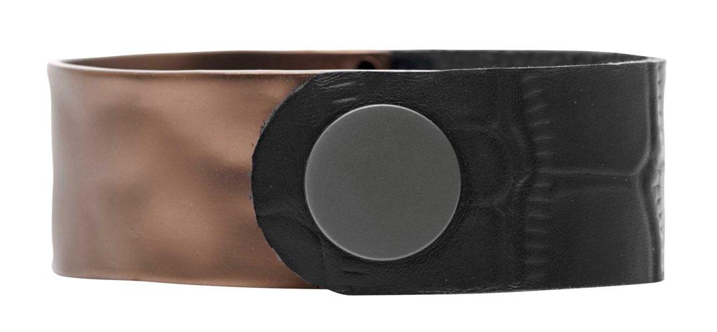 Браслет кожаный(7C958)Paloma<br>Дания, Dansk Smykkekunst<br><br>Ширина браслета 2см.,диаметр 6см.<br>