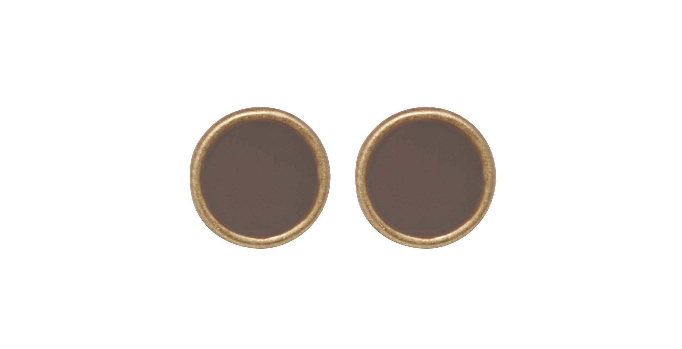 Серьги с эмалью кофейного цвета(3H771)Phoebe<br>Дания, Dansk Smykkekunst<br><br>Диаметр серег 0,7см<br>