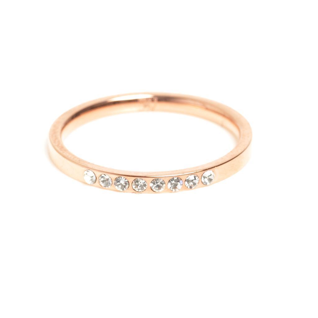 Кольцо из стали с золотым покрытием и вставками из цирконов(4046-0021)Steel<br>Кольцо покрытие золото, вставка циркон.<br>Размер 18<br>