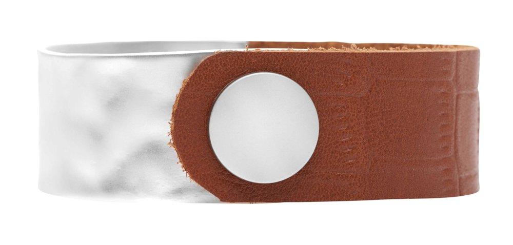 Браслет кожаный, широкий(7С959)Paloma<br>Ширина браслета 2см.<br>