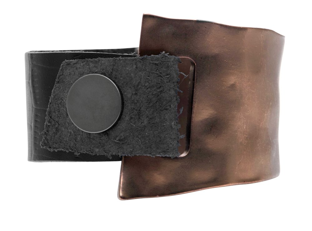 Браслет кожаный, широкий(7C940)Ritt<br>Браслет ширина; кожа 3см., металл 4см.<br>