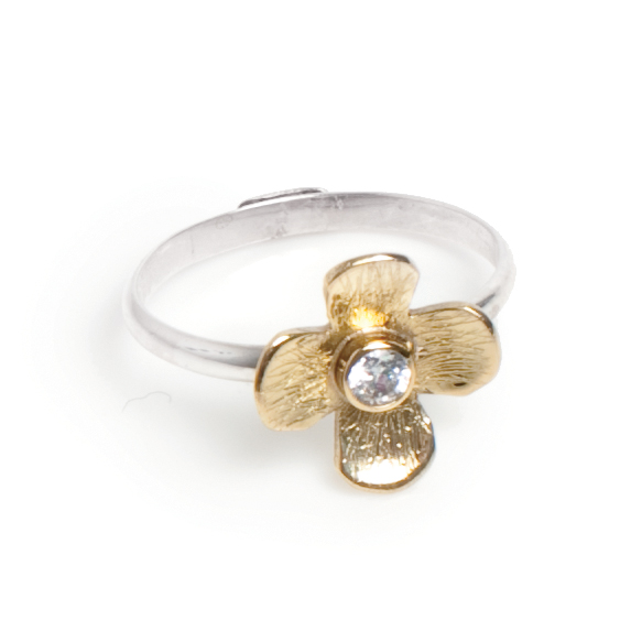 Кольцо(4027-0589)Полевые цветы<br>Кольцо размер 17,5<br>