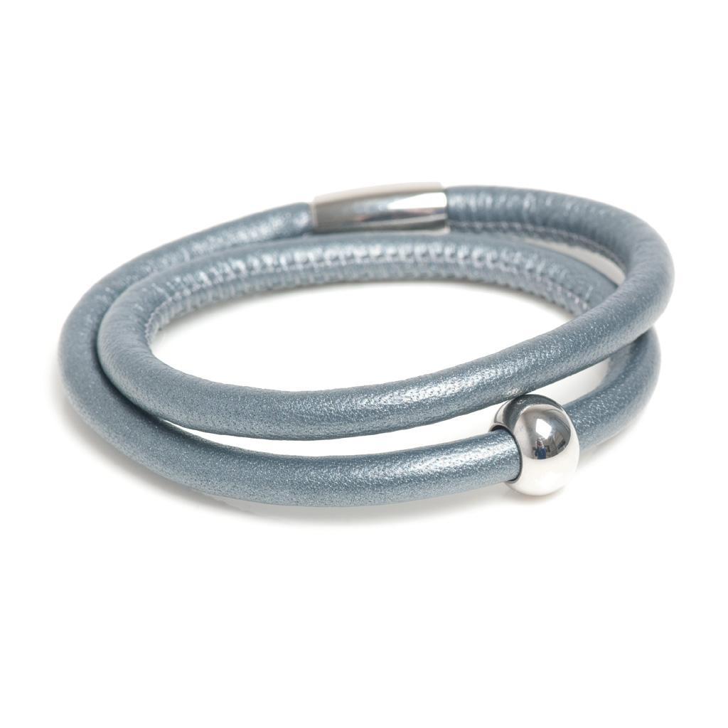 Браслет кожаный(3044-0011)Кожаные браслеты<br>Кожа, сталь<br>
