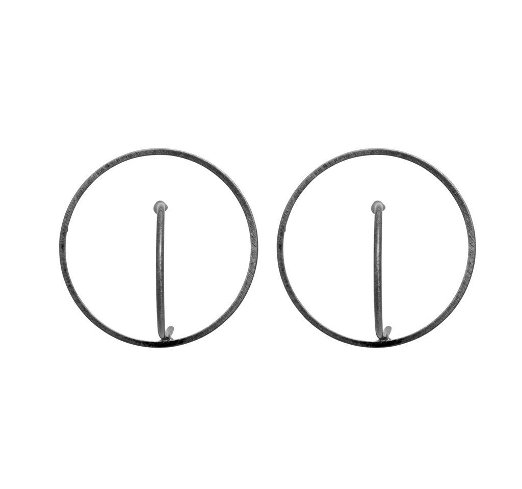 Серьги(3H890)Robin<br>Диаметр кольца 3 см<br>