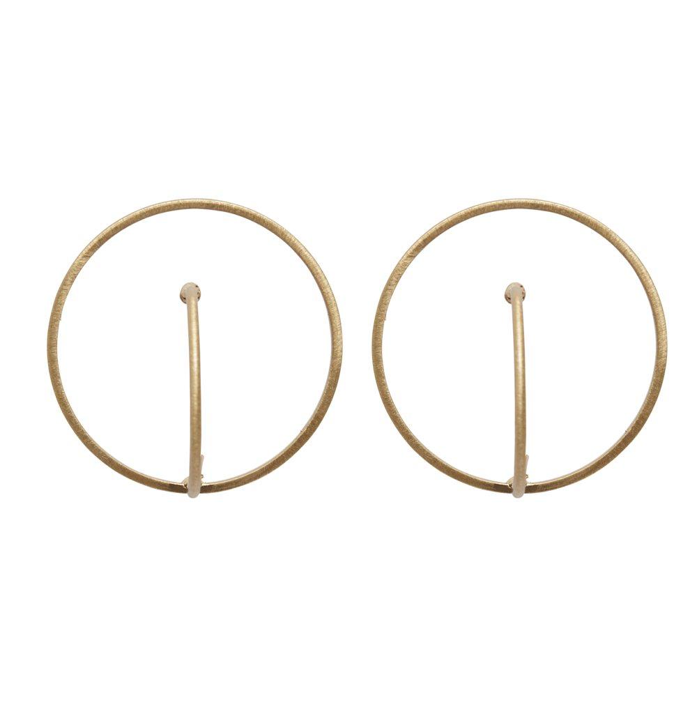 Серьги(3H887)Robin<br>Диаметр кольца 3 см<br>