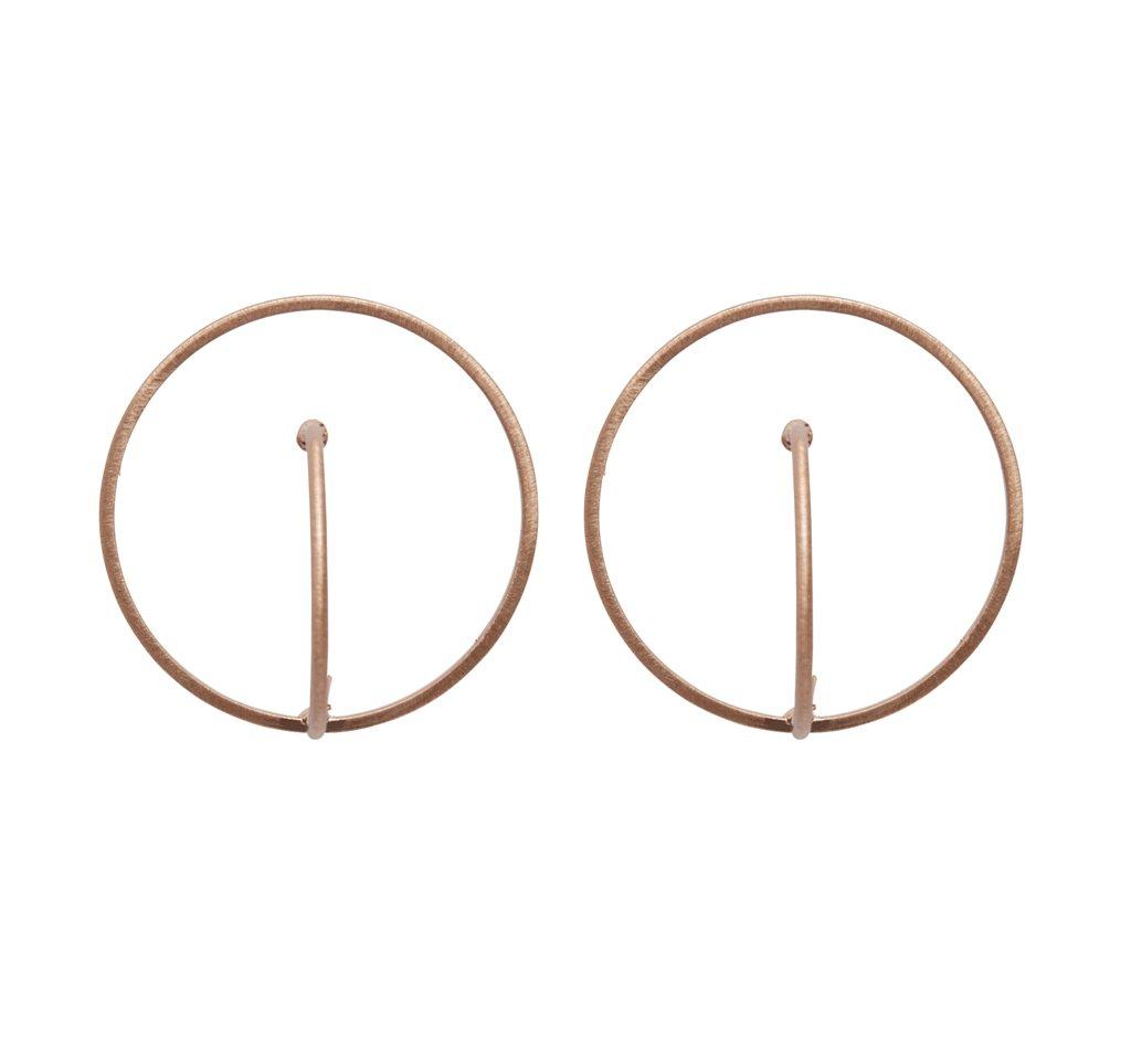 Серьги(3H888)Robin<br>Диаметр кольца 3 см<br>