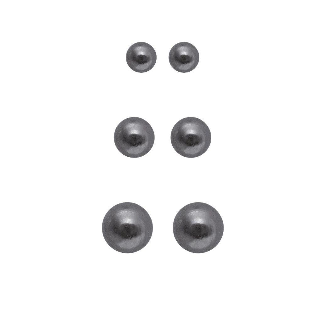 Набор серег(3H705)Rae<br>Дания, Dansk Smykkekunst<br><br>Гипоаллергенный сплав, покрытый гематитом<br>