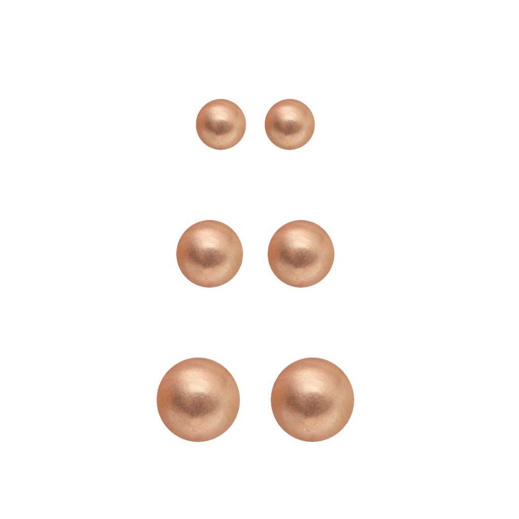 Набор серег(3H707)Rae<br>Дания, Dansk Smykkekunst<br><br>Гипоаллергенный сплав, покрытый розовым золотом<br>