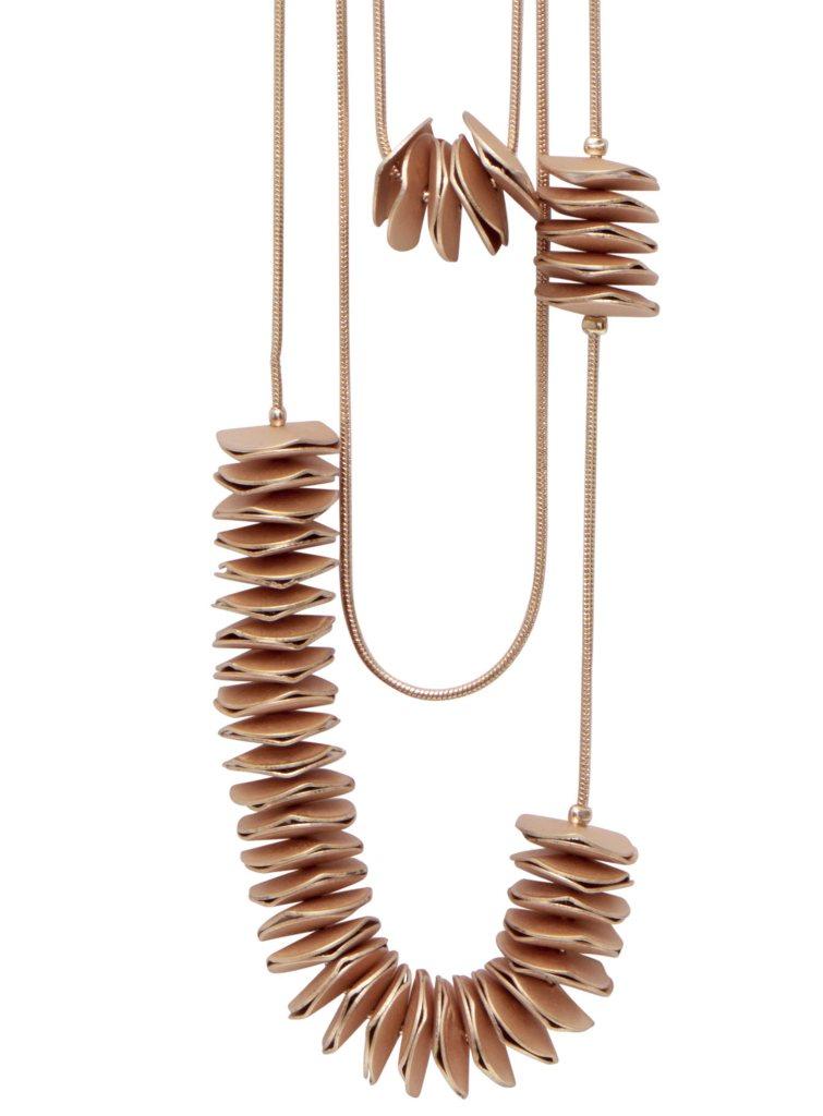 Колье(9H286)Rebecca<br>Дания, Dansk Smykkekunst<br><br>Гипоаллергенный сплав, покрытый розовым золотом<br><br>Длина колье 100 см<br>
