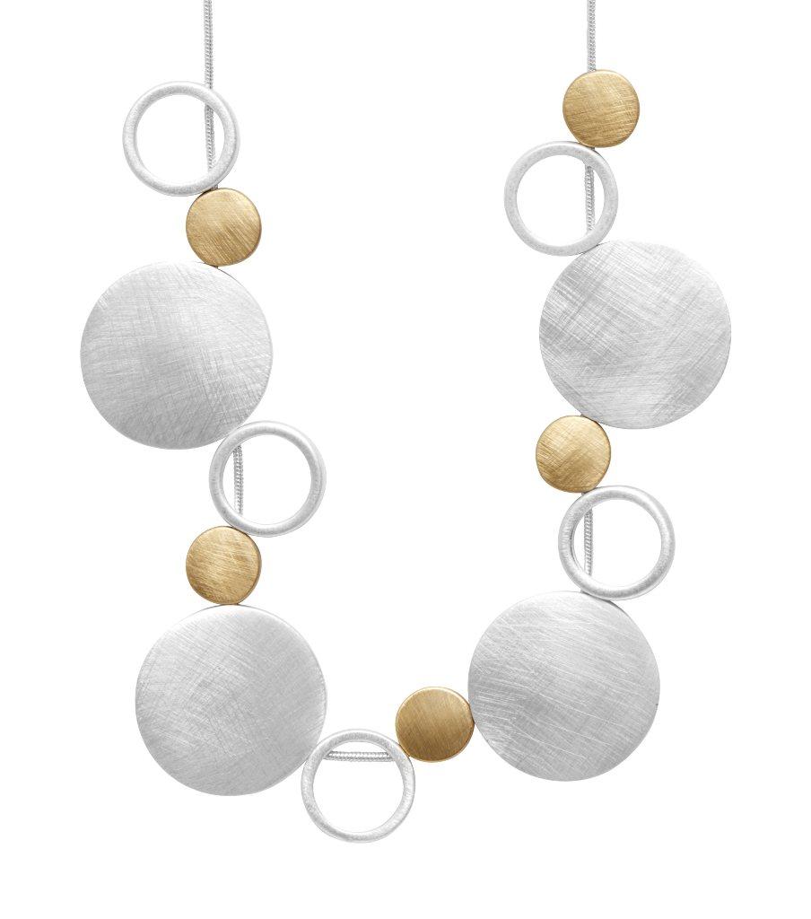 Колье(9H295)Rosamunde<br>Дания, Dansk Smykkekunst<br><br>Гипоаллергенный сплав, покрытый золотом, серебром<br>Длина колье 50 см<br>