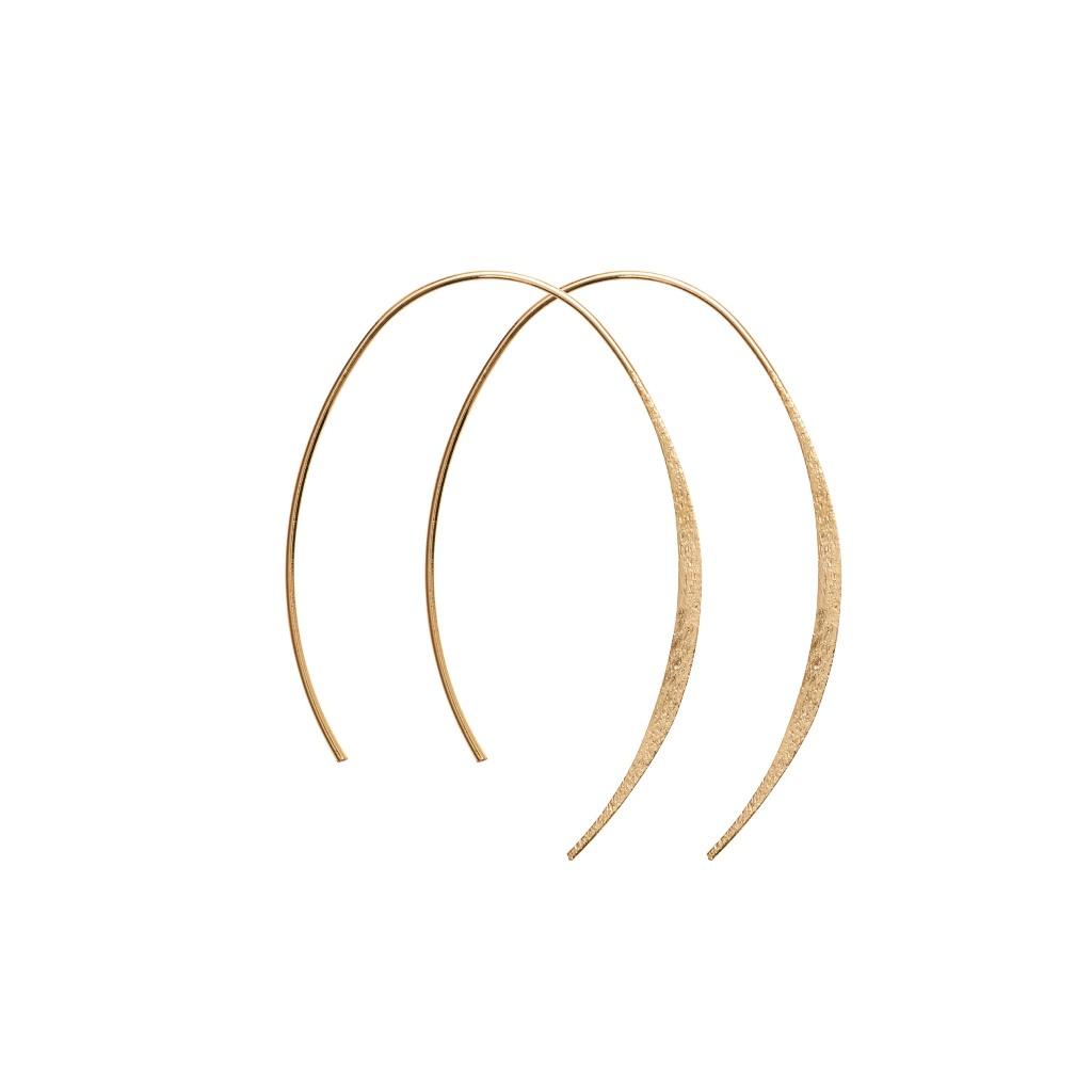 Серьги(3H525)Mix &amp; Match серьги<br>Дания, Dansk Smykkekunst<br><br> Гипоаллергенный сплав, покрытие золотом<br><br>Диаметр кольца 5 см<br>