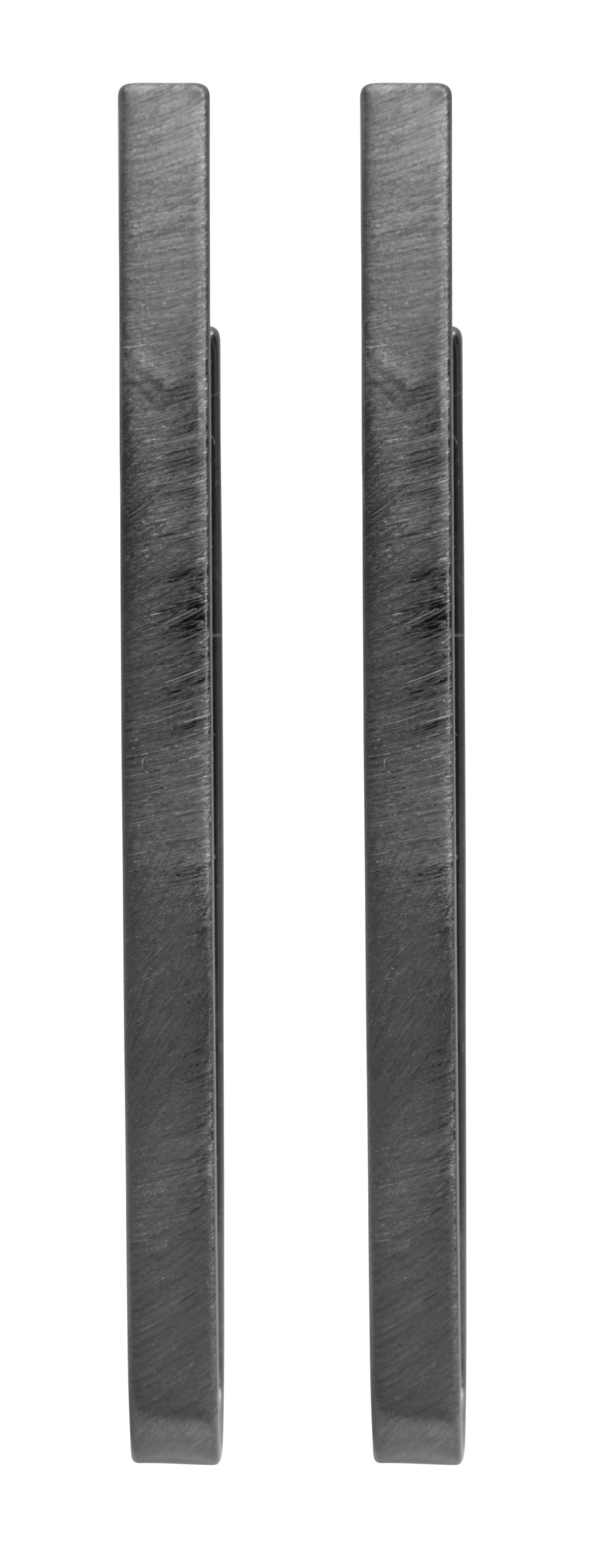 Серьги-петли(3H828)Mix &amp; Match серьги<br>Дания, Dansk Smykkekunst<br><br> Гипоаллергенный сплав, гематитовое покрытие.<br><br>Длина серег 5,5 см<br>