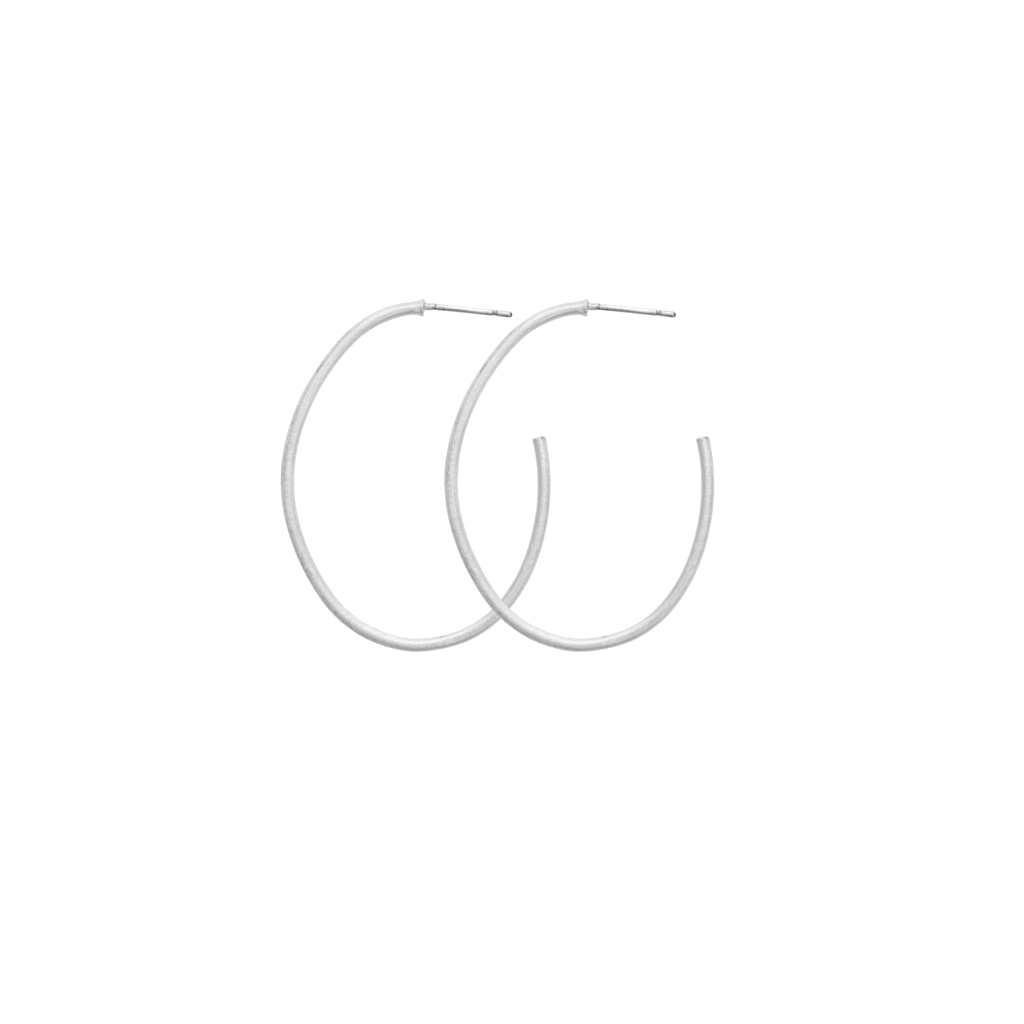 Серьги-кольца средние(3H720)Mix &amp; Match серьги<br>Дания, Dansk Smykkekunst<br><br> Гипоаллергенный сплав, покрытие серебром.<br><br>Диаметр серег 4 см<br>