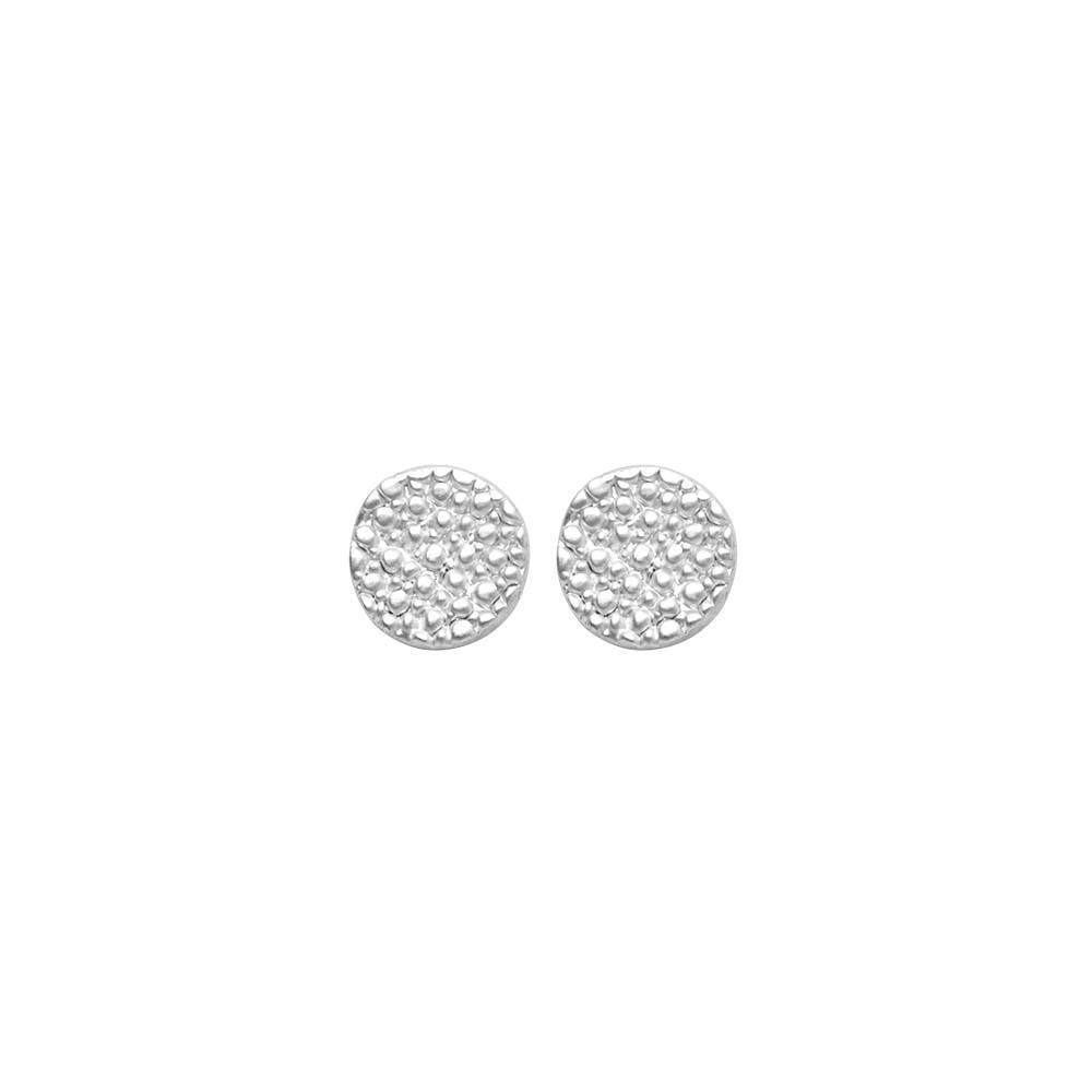 Серьги(3C315)Shirley<br>Дания, Dansk Smykkekunst<br><br>Гипоаллергенный сплав, покрытый серебром<br><br>Диаметр декоративного элемента 1 см<br>
