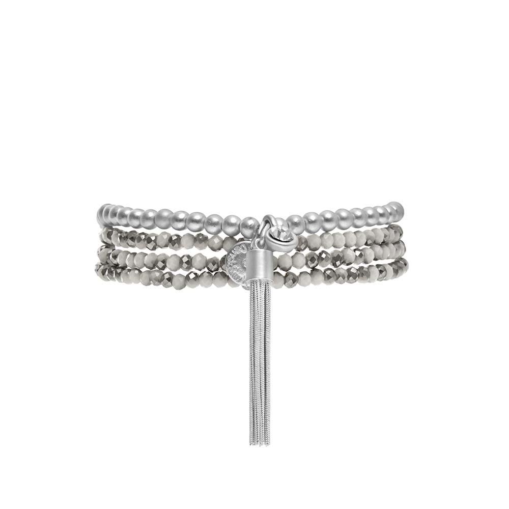 Колье-браслет трансформер(9C270)Suzy<br>Дания, Dansk Smykkekunst<br><br>Гипоаллергенный сплав, покрытый серебром; натуральные камни<br>Длина колье-браслета 90 см. Основа-эластичная резинка<br>
