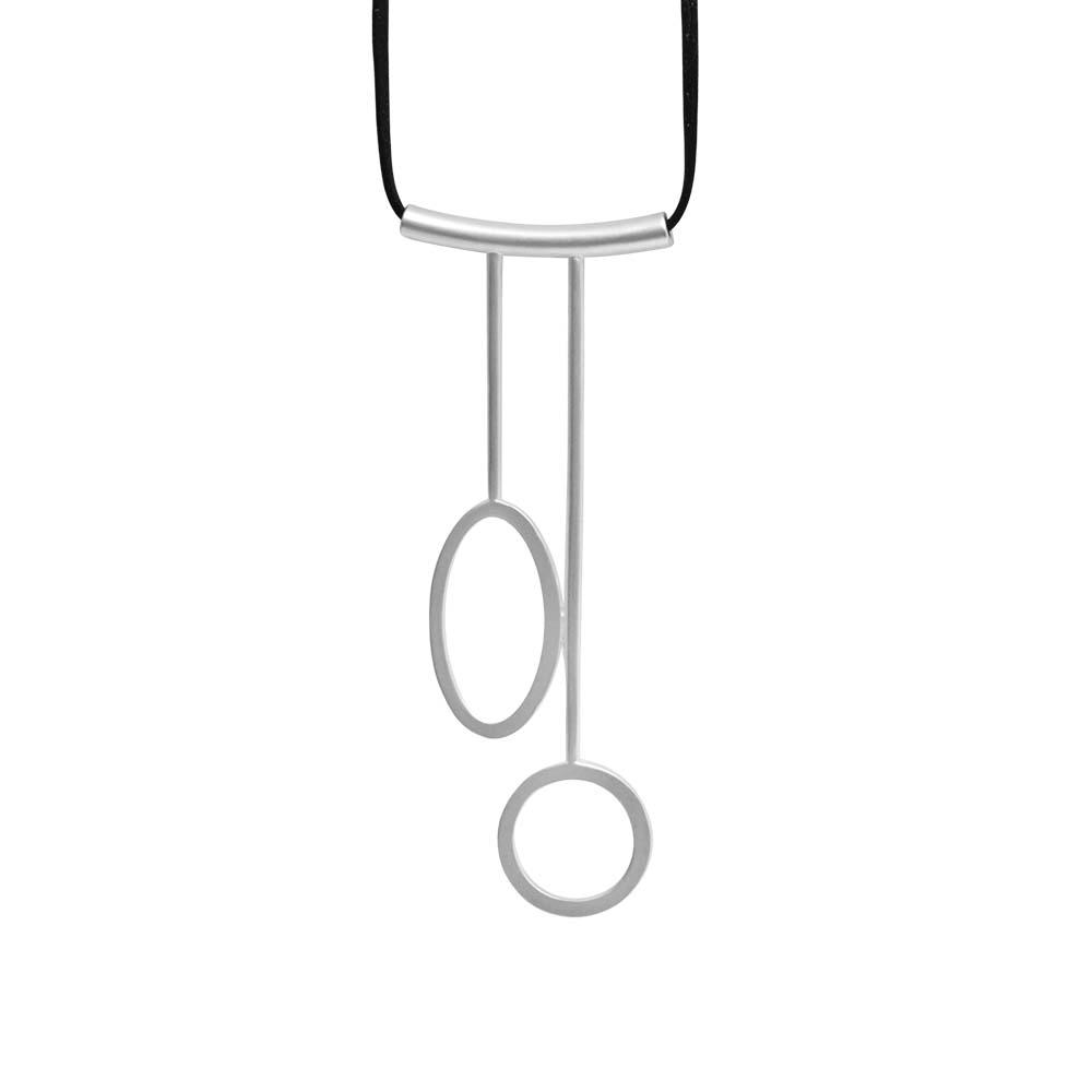 Колье(9C201)Sigrid<br>Дания, Dansk Smykkekunst<br><br>Гипоаллергенный сплав, покрытый  серебром<br><br>Длина колье 140 см<br>