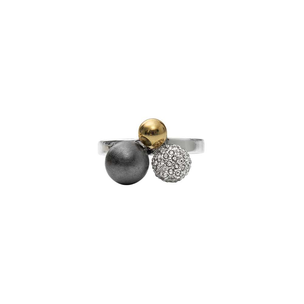 Кольцо(1H591)Simone<br>Дания, Dansk Smykkekunst<br><br>Гипоаллергенный сплав, покрытый золотом, серебром, стразы Swarovsky<br>