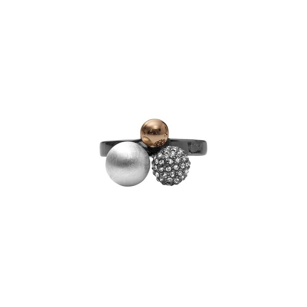 Кольцо(1H592)Simone<br>Дания, Dansk Smykkekunst<br><br>Гипоаллергенный сплав, покрытый золотом, серебром, стразы Swarovsky<br>