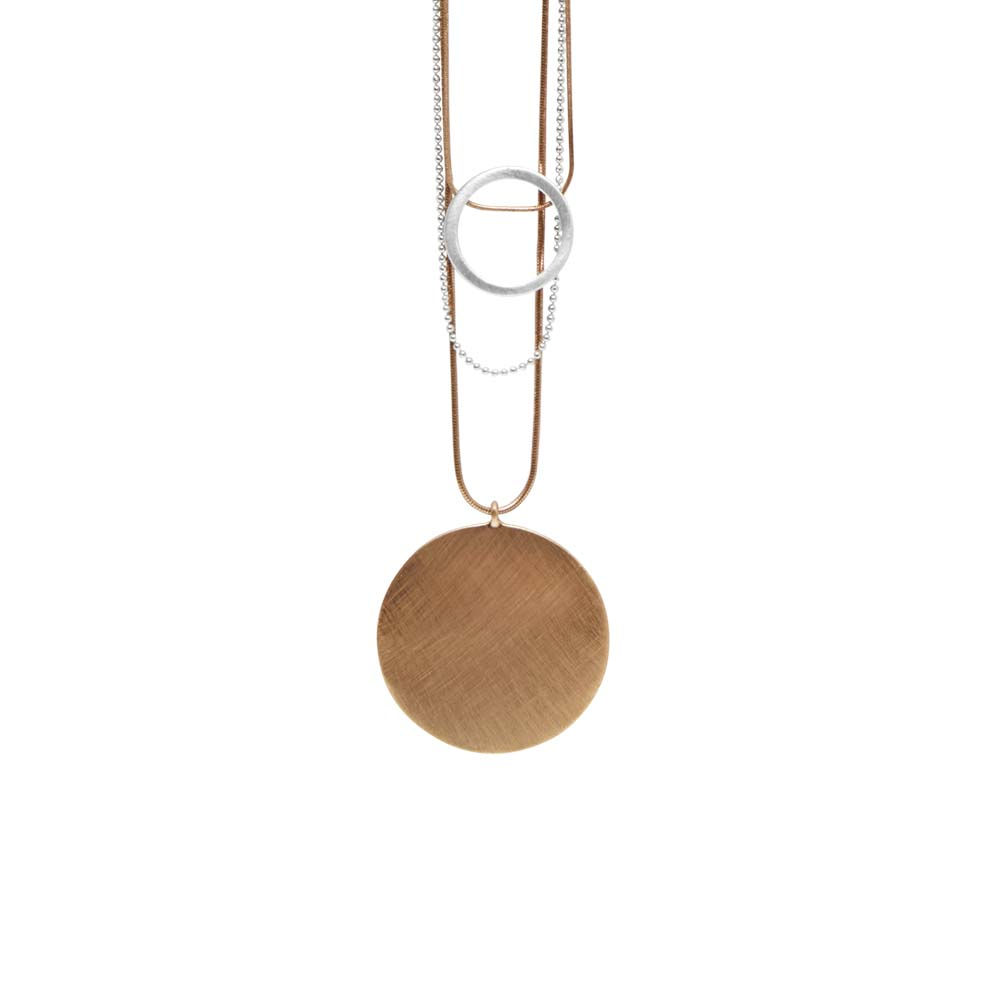 Колье(9H346)Shanaya<br>Дания, Dansk Smykkekunst<br><br>Металл, покрытый розовым золотом<br>Длина цепочки 90 см<br>
