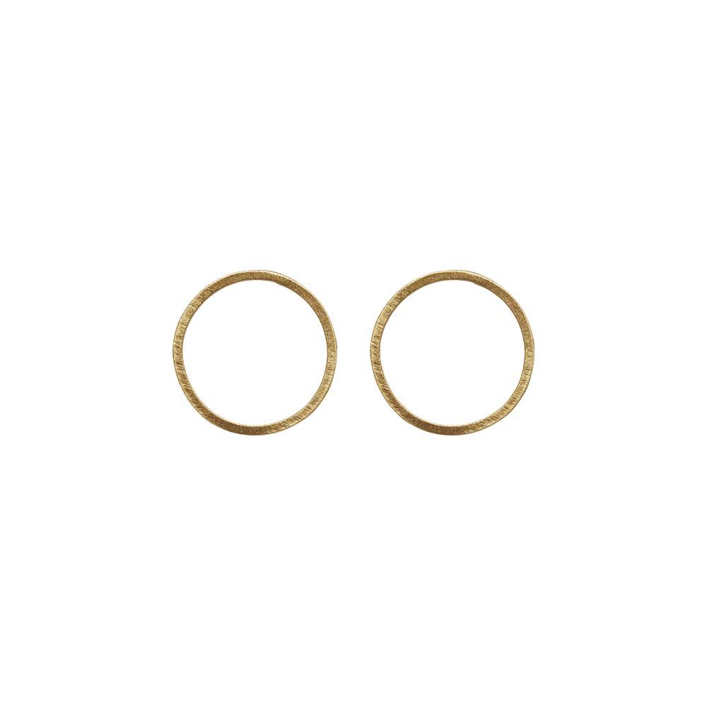 Серьги(3H936)Selina<br>Дания, Dansk Smykkekunst<br><br>Гипоаллергенный сплав, покрытый  золотом<br>Диаметр серег  2,5 см<br>