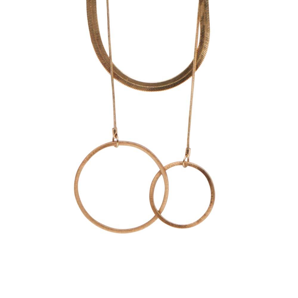 Колье 90 см(9H323)Selina<br>Дания, Dansk Smykkekunst<br><br>Гипоаллергенный сплав, покрытый  золотом<br><br>Длина колье 90 см<br>
