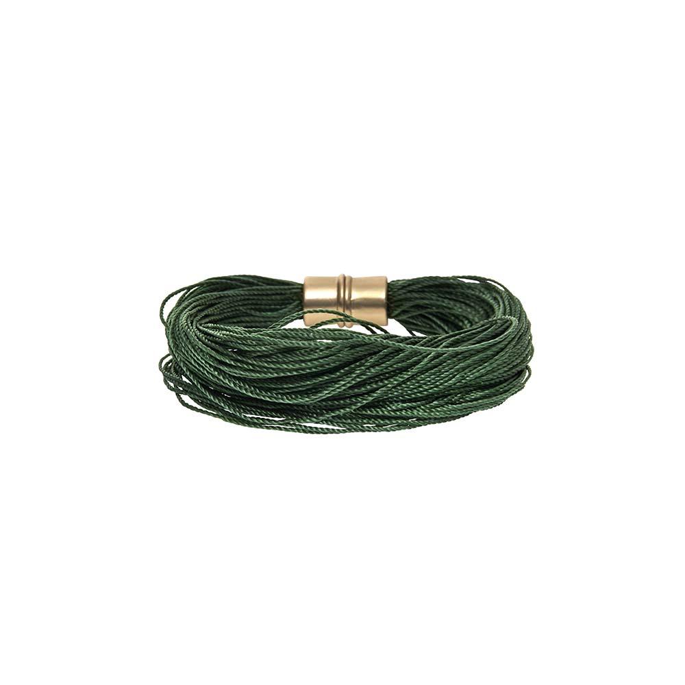 Браслет-текстиль(7C237)Sanne<br>Дания, Dansk Smykkekunst<br><br>Текстиль, металл с нанесением золота.<br>