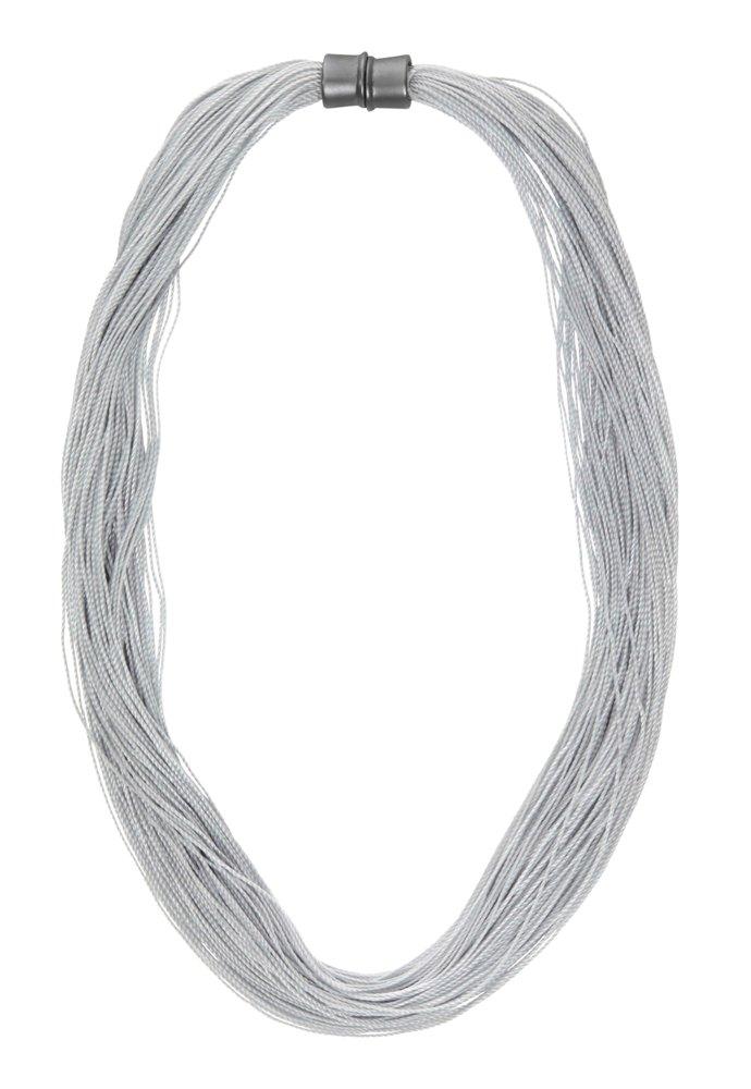 Колье-текстиль(9C240)Sanne<br>Дания, Dansk Smykkekunst<br><br><br>Текстиль, металл с нанесение серебра<br>Длина колье 50 см<br>