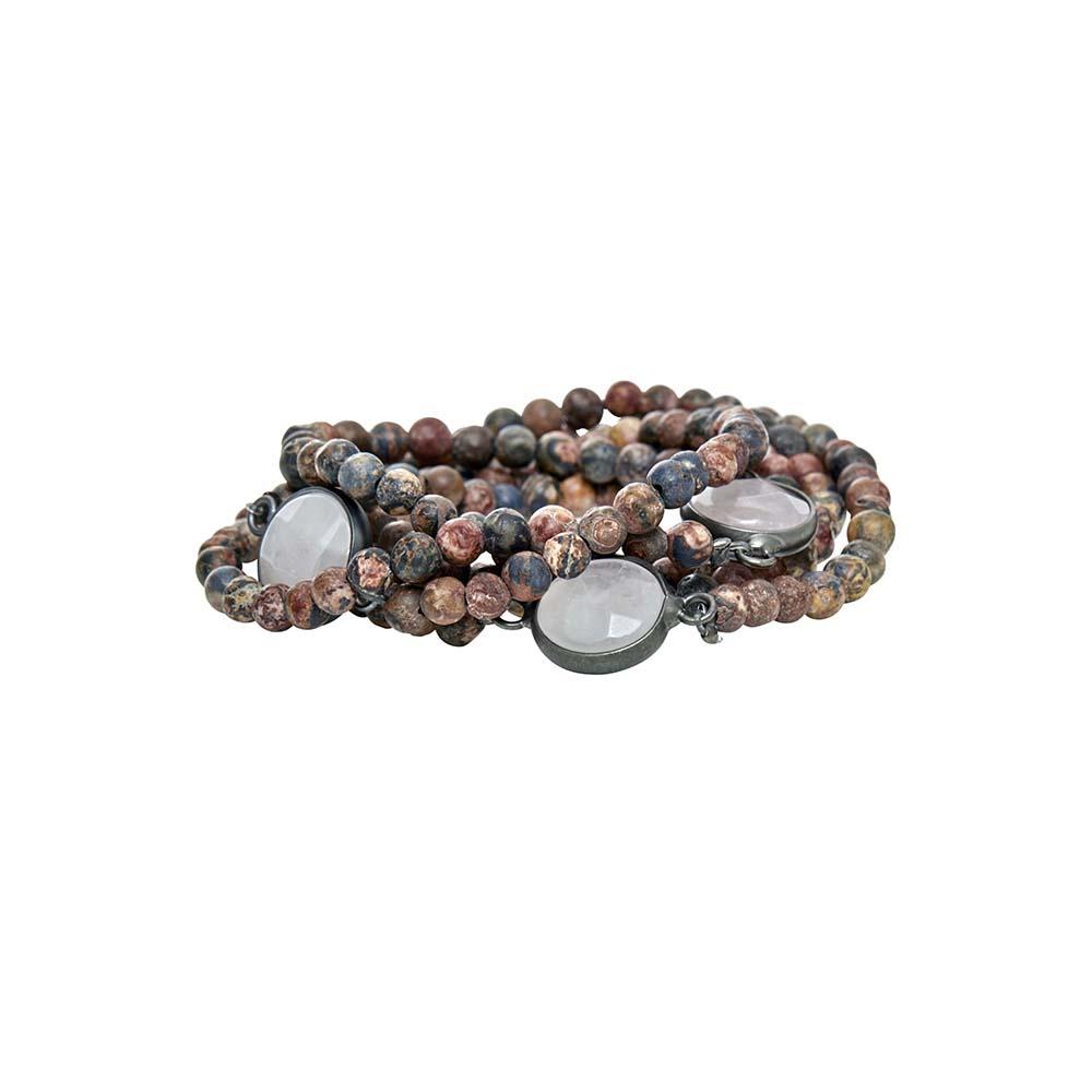 Колье-браслет трансформер(9C245)Sanne<br>Дания, Dansk Smykkekunst<br><br>Натуральные камни<br>Длина 90 см.<br>