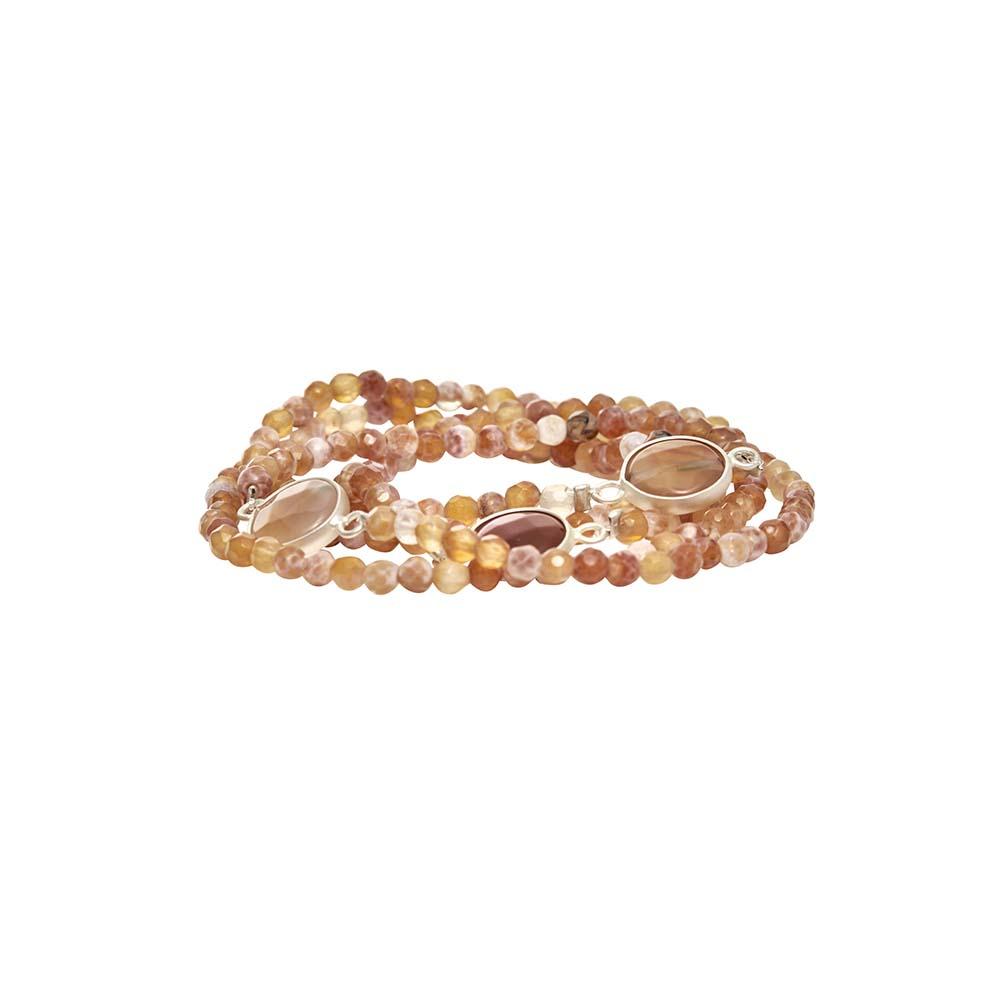 Колье-браслет трансформер(9C244)Sanne<br>Дания, Dansk Smykkekunst<br><br>Натуральные камни<br>Длина 50 см<br>
