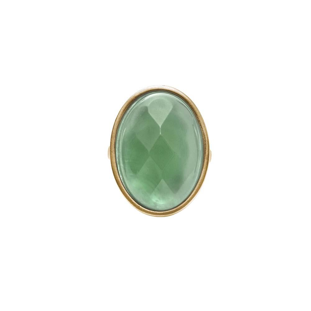 Кольцо(1C448)Sonny<br>Дания, Dansk Smykkekunst<br><br>Натуральный камень, металл, покрытый золотом<br>