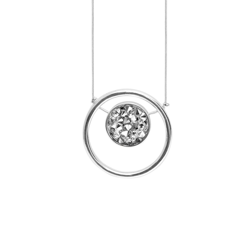 Колье(9H366)Regina<br>Дания, Dansk Smykkekunst<br><br>Гипоаллергенный сплав, покрытый серебром<br>Длина колье 110 см<br>