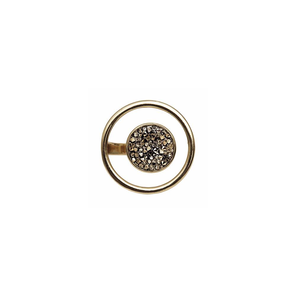 Кольцо(1H595)Regina<br>Дания, Dansk Smykkekunst<br><br>Гипоаллергенный сплав, покрытый золотом<br>